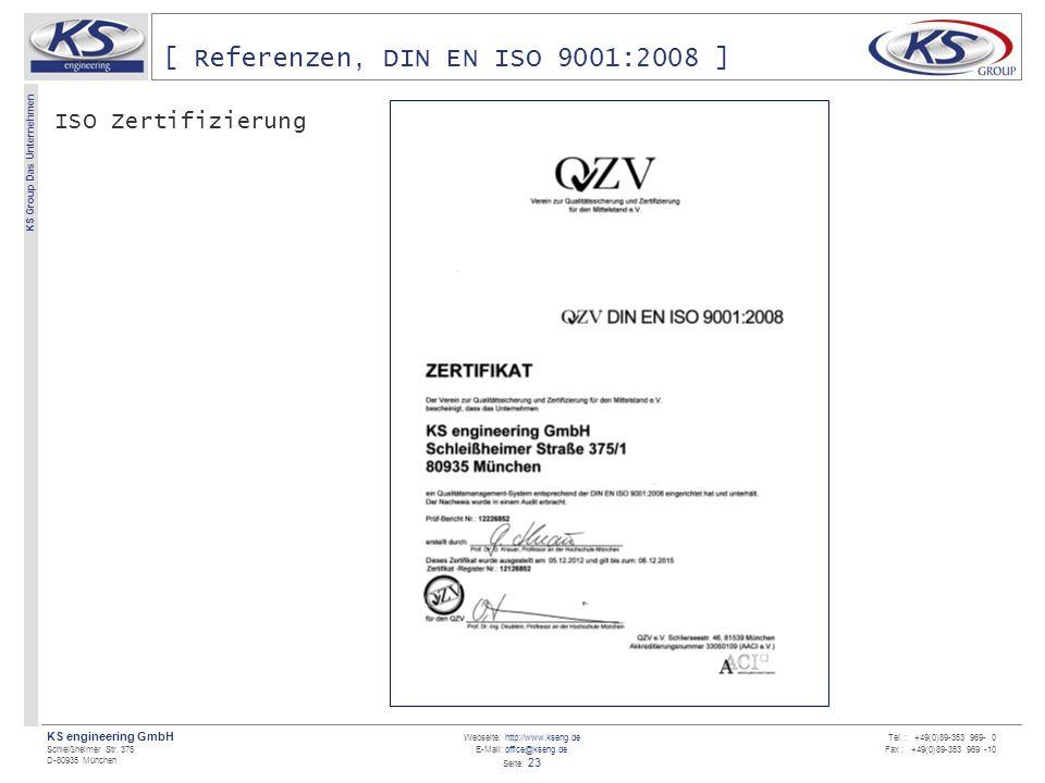 [ Referenzen, DIN EN ISO 9001:2008 ]